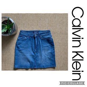 Calvin Klein Denim Skirt Jean Skirt size 8